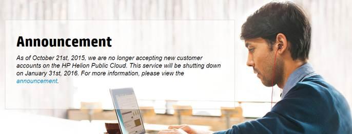HP Helion Public Cloud dihentikan