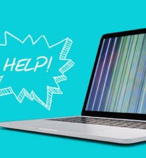 Garis Pada Layar Laptop